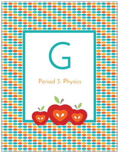 Free binder label printable template for school students and teachers