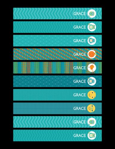 Wrap-around school pencil label template, free download