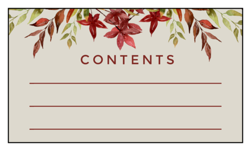 Thanksgiving/Autumn/Fall label template for identifying the contents in leftover containers