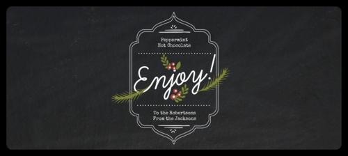 Enjoy wraparound Christmas Bottle Label