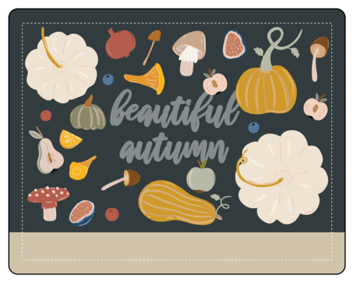 Thanksgiving/Autumn/Fall Label Template: beautiful autumn write-in bottle label