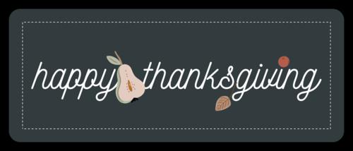 "Thanksgiving/Autumn/Fall Template: Autumn harvest ""Happy Thanksgiving"" favor label"