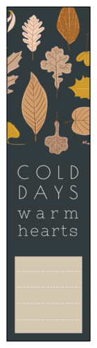 """Thanksgiving/Autumn/Fall Label Template: Autumn Harvest """"Cold Days Warm Hearts"""""""