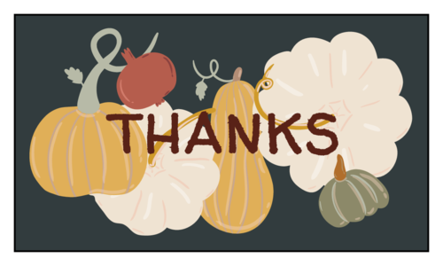 """Thanksgiving/Autumn/Fall Template: Autumn harvest """"thanks"""" party favor labels"""