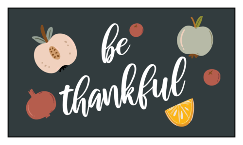 """Thanksgiving/Autumn/Fall Template: Autumn harvest """"be thankful"""" party favor labels"""