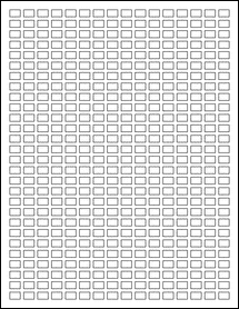 "Sheet of 0.375"" x 0.25"" Removable White Matte labels"
