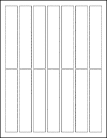 "Sheet of 1"" x 5"" Weatherproof Silver Polyester Laser labels"
