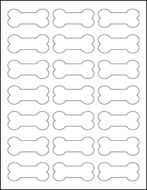 "Sheet of 2.3852"" x 1.0671"" Silver Foil Laser labels"