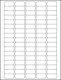 "Sheet of 1.375"" x 0.625"" Weatherproof Polyester Laser labels"