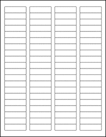 "Sheet of 1.75"" x 0.5"" labels"