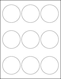 "Removable White Matte - 2.5"" Circle Round Labels"