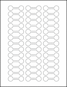 "Sheet of 2"" x .625"" Silver Foil Laser labels"