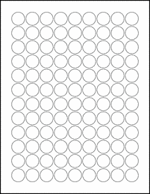 "100% Recycled White - 0.75"" Circle Labels"
