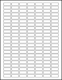 "Sheet of 1"" x 0.375"" 100% Recycled White labels"