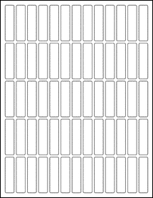 "Sheet of 0.5"" x 2"" 100% Recycled White labels"