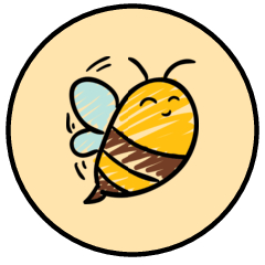 Happy bumble bee with yellow background Hershey's Kisses stickers