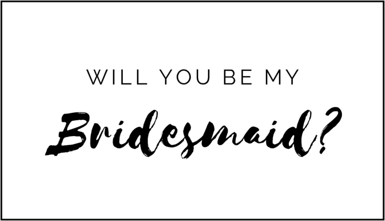 Blank and White bridesmaid proposal mini champagne bottle labels