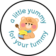 Baby bear with blue bowtie and honey Hershey's Kisses stickers