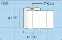 """Roll of 4"""" x 1.5""""  Thermal  labels"""