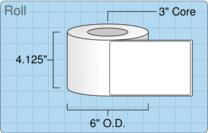 """Roll of 4"""" x 6""""  Inkjet  labels"""