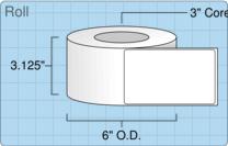 """Roll of 3"""" x 5""""  Inkjet  labels"""