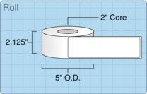 """Roll of 2"""" x 7""""  Inkjet  labels"""
