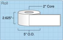 """Roll of 2.5"""" x 7""""  Inkjet  labels"""