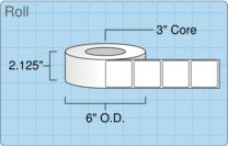 """Roll of 2"""" x 2""""  Inkjet  labels"""