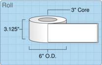 """Roll of 3"""" x 8""""  Inkjet  labels"""