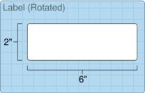 """Roll of 6"""" x 2""""  Inkjet  labels"""