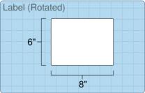 """Roll of 8"""" x 6""""  Inkjet  labels"""