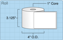 "Roll of 3"" x 4""  Thermal  labels"