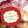 Christmas Gift Label on cookies