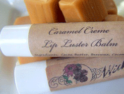 Lip Balm Labels - Caramel Creme