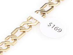 Barbell Labels - Gold Bracelet