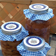 Round Canning Labels, Blue