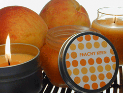 Tin Container Label - Peachy Keen Candle