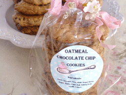 Round Labels - Oval Chocolate Chip Cookie Labels