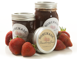 Round Label for Strawberry Jam