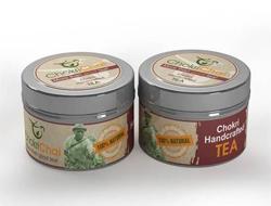 Custom Tea Label on Tin Canister