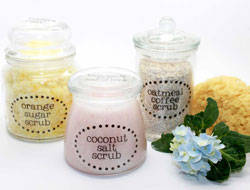 Clear Jar Labels for Sugar Scrub - Bath and Body
