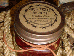 Circular Labels - True Texas Scents Candle Labels
