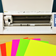 Sticker Paper Cutter Open w/ Fluorescent Labels