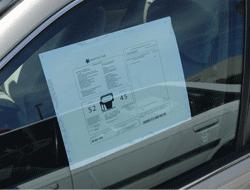 Car dealer window stickers monroney stickers for cars for Used car window sticker template