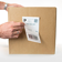 Half Sheet Label on Cardboard Box
