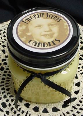 Favorite Scents 8 oz Soy Blend Candle Label