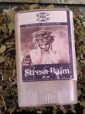 Botanica Apothecary Stress Balm Label