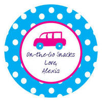Polka Dot Pear Design Label