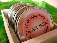 Raw Olive Grapefruit Body Balm Label