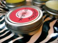 Raw Olive Cane Lip Balm Label